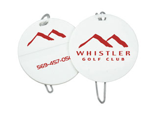 Round Golf Tags  Logo's by Promosapien