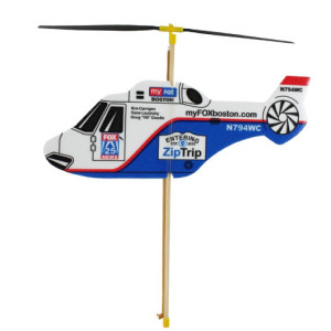 Elastic motor helicopter