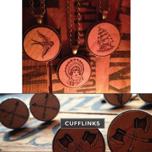 Wooden-made-in-vancouver-cufflinks-pendants